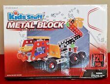Kids Stuff Metal Block Cherry Picker Truck Easy Assembly 120pcs HTF