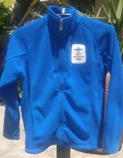 VANCOUVER 2010 Winter OLYMPICS Official Blue Fleece Jacket Youth Size Large L