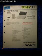 Sony Service Manual DVP F5 /FX1 CD/DVD Player (#5878)