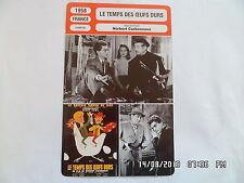 CARTE FICHE CINEMA 1958 LE TEMPS DES OEUFS DURS Darry Cowl Fernand Gravey