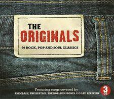THE ORIGINALS 60 ROCK, POP AND SOUL CLASSICS - 3 CD BOX SET - THE CLASH & MORE