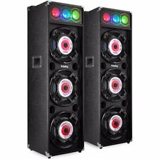 Frisby FS-4080ST Amplified Karaoke Speaker System w/ Bluetooth & DJ Party Lights