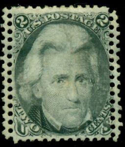 US #73, 2¢ Black Jack, Freaky Double Perfs, unused no gum, VF