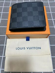 Mens Louis Vuitton Auth Multiple Damier Graphite Wallet