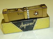 SUPREME SQUEEZE AUTOMATIC POCKET LIGHTER -QUETSCHZÜNDER -PAT.144650- 1950 -JAPAN