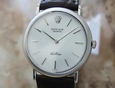 Rolex Cellini 1971 Solid 18k Mens Swiss Made Luxury Manual Dress Watch GG4