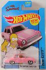 Hot Wheels 2015 Custom The Simpsons Family Car - Keyring Keychain Pink 1 64