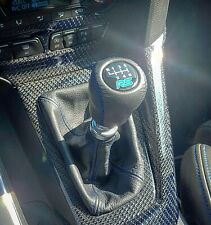 GEAR SHIFT KNOB FITS FORD FIESTA , FOCUS, S Max RS logo 6 speed Genuine leather