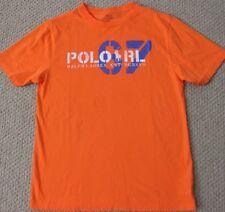 Polo Ralph Lauren L 14 16 Tee Shirt Top S/S Boy's Orange NWT