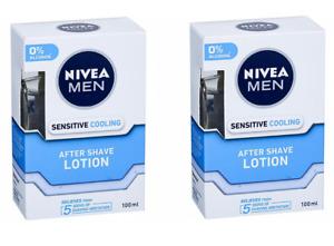 NIVEA MEN Sensitive Cooling After Shave Lotion 100ml x 2 (Pack of 2)