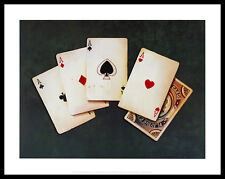 Lisa Danielle Four of a Kind Poster Bild Kunstdruck im Alurahmen schwarz 28x36cm