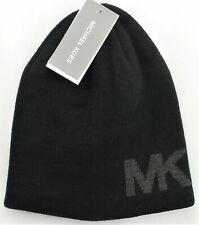 MICHAEL KORS Men's Reversible Beanie Hat Ash Grey 33412C NEW