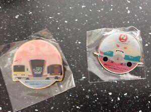 2 pcs JAL & JR Tokyo 2020 Olympic pins