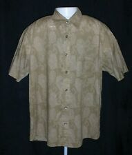 MURANO MENS LARGE SHORT SLEEVE BUTTON UP SHIRT CASUAL DRESS BUTTON FRONT COTTON