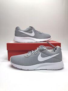New Nike Tanjun Men's Gray and White Running Shoes 812654-010