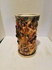 """Capodimonte Vase cherubs 10 1/2"""" Tall"""