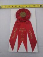 Vintage Tri State DOG SHOW 2nd Prize Toy Group 1981 Joplin AKC Award Ribbon *EE