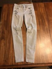 American Eagle Jeans Size 0 Jegging Super Stretch Distressed Gray
