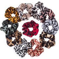 Vintage Leopard Hair Ring Colorful Elastic Rubber Bands Rope Scrunchie Hair Tie