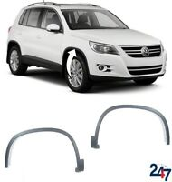 NEW VOLKSWAGEN TIGUAN 07-16 FRONT WHEEL ARCH MOULDING TRIM COVER LEFT RIGHT PAIR