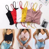 Women Fashion Casual Tank Tops Vest Blouse Sleeveless Crop Top Tee Shirt...