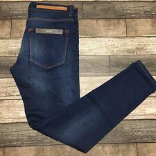Zara Man Skinny Jeans Men's Size 32 30 Blue Cotton Elastane