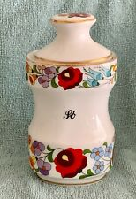 Kalocsa Hand Painted SALT So  Spice Jar  Mint Condition.