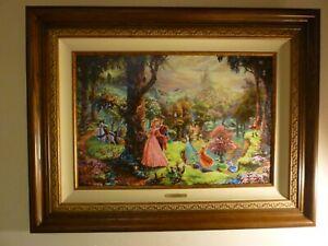 Thomas Kinkade SLEEPING BEAUTY Limited Edition Canvas 18x27 S/N Disney Dreams