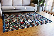 135 cm x 200 cm Orientalischer Teppich, Kelim ,Carpet aus Damaskunst S 1-4-40