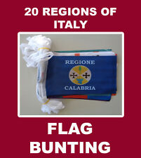 Italy 20 Regions of Italy Flag Bunting  Regioni Della Repubblica Italiana