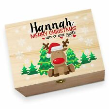 Personalised Merry Christmas Rudolph Children's Printed Christmas Eve Box