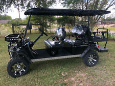New 6 Seat Golf Cart Ac Motor Lithium Battery Loaded w/ Options Blk/Blk