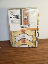 "NIP Vintage Bernat Hook Rug Kit Ladderback Chair OT 3316 USA 17"" x 43"" 1976"