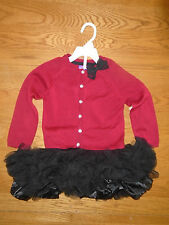 BNWT baby girl 2-piece outfit. Cardigan & tutu. 12-24mth. 'Shrinking Violet