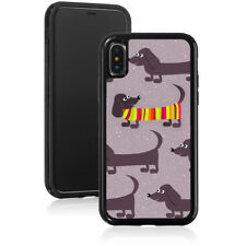 For Apple iPhone 11 X Max XR Shockproof Hard Case 909 Dachshund Sweater Purple
