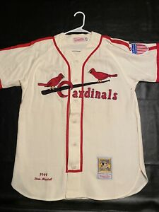 STAN MUSIAL MITCHELL AND NESS 1944 ST LOUIS CARDINALS JERSEY