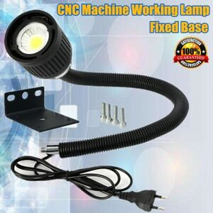 CNC 110-220V Maschinenlampe Fixed Base LED Arbeitsleuchte Flexibel Licht Arm