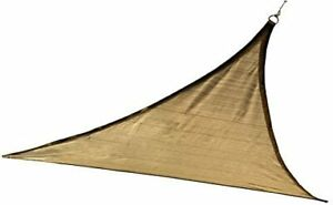 12 ft. / 3,7 m Triangle Shade Sail - Sand 230 gsm