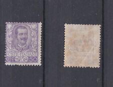 ITALY 1901 King V. Emmanuel III Floreale 50c violet Mint *  (Sa.74)