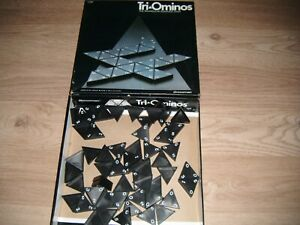 Complete VGC 1985 Tri-Ominos The Classic Triangular Domino Game. By Pressman.