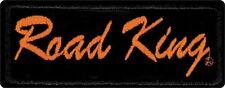 Harley-Davidson Road King Emblem, Small Size Patch, Black & Orange EMB065063