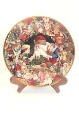 Hamilton Collection Victorian Christmas John Grossman St. Nick Plate With Stand