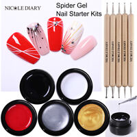 NICOLE DIARY Draw Painting Spider UV Gellack Nail Starter Kit Soak Off Nail Art