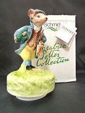 Schmid Beatrix Potter Johnny Town Mouse Musical music box 1980 NIB