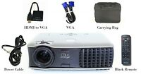 Dell 2400MP DLP Projector 3000Lm HD 1080i, HDMI-Adapter Bag + Accessories, NICE!