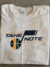 Utah Jazz Playoffs 2018 Take Note Shirt. White Out Game. Brand new. Giveaway