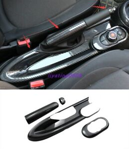 Carbon Fiber style Inner Handbrake decorative panel For BMW Mini Cooper F55 F56