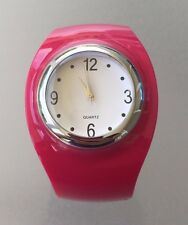 Avon Chunky Pink Cuff Watch NEVER WORN, NEW IN BOX, MINT, RETIRED needs battery