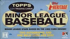 2011 TOPPS HERITAGE MINOR LEAGUE ED BASEBALL HOBBY BOX BLOWOUT CARDS