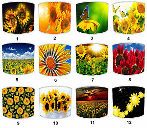 Sunflower Floral Lampshades Ideal To Match Sunflower Cushions & Sunflower Duvets